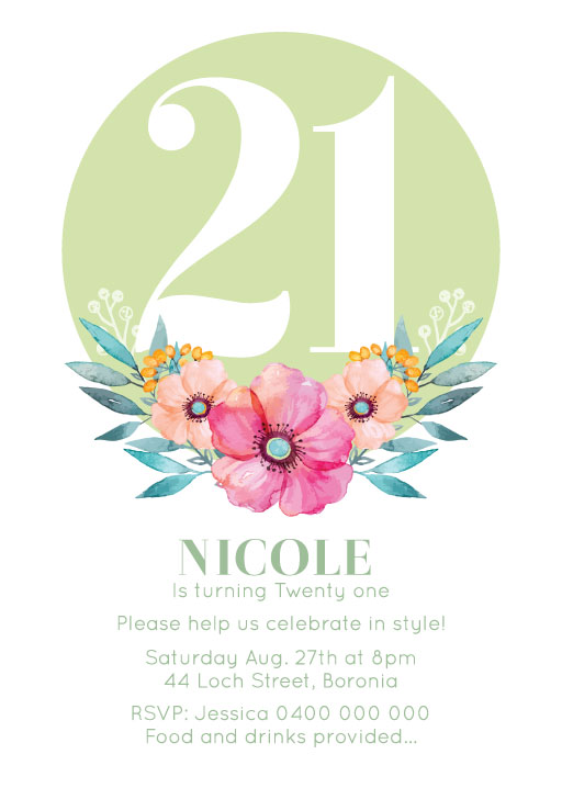 Floral birthday invitations say it with flowers birthday invitations filmwisefo