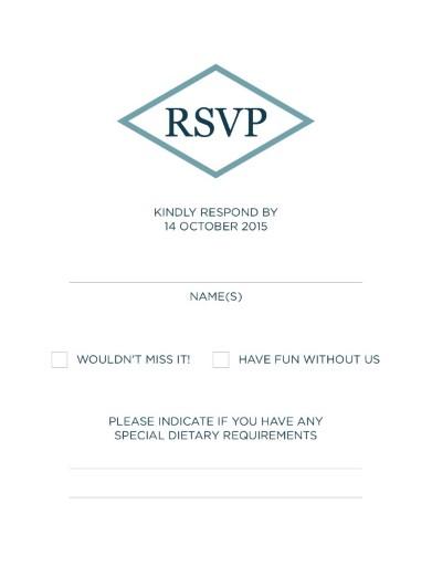 Tropical Palm Trees - RSVP Cards