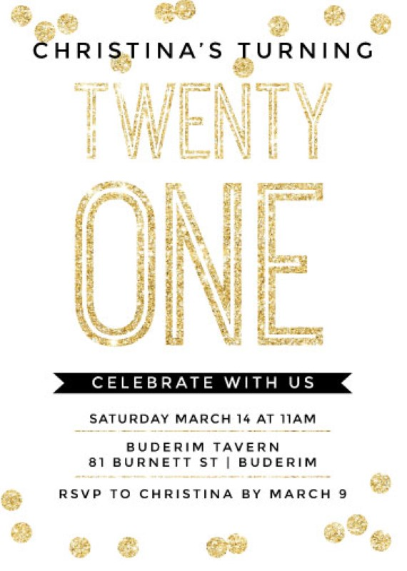 An Event Worth Celebrating Dp Birthday Invitations