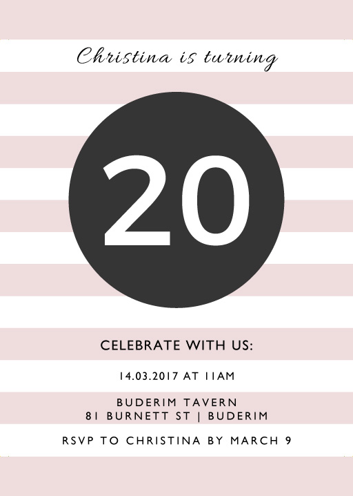 An Event Worth Celebrating - Birthday Invitations