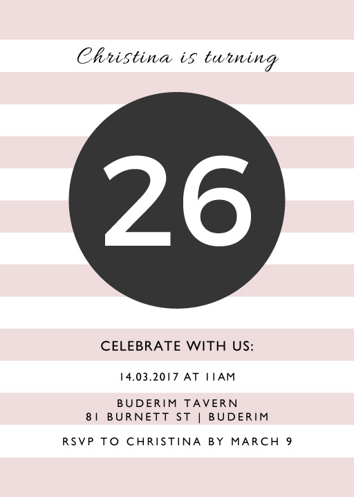 An Event Worth Celebrating - Birthday Invitations