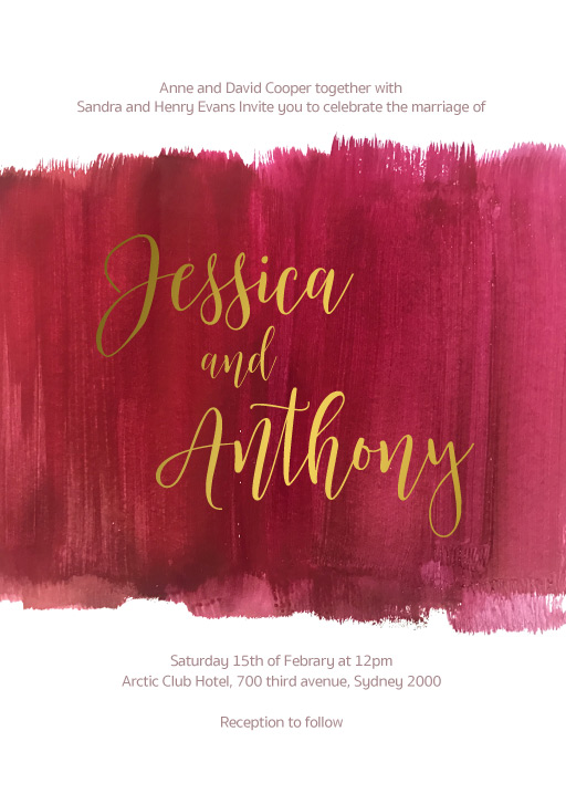 Pinot Noirs and Chardonnays - Wedding Invitations