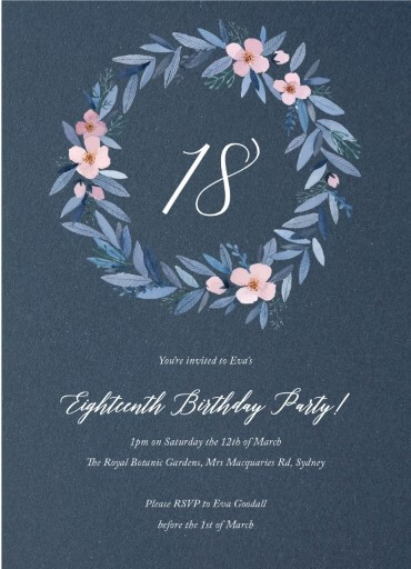 18th Birthday Invitations Customize And Print Online Paperlust
