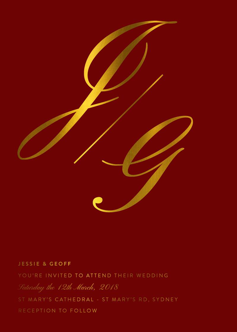 Monogram | Real Foil | Wedding Invitations