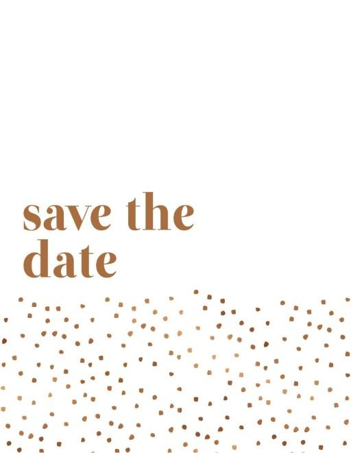 Minimalist Spot - Save The Date