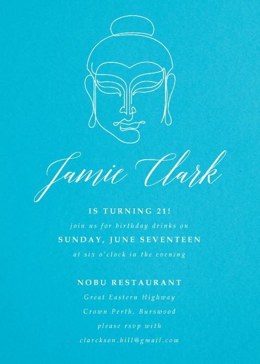 Buddha Secret Party - Birthday Invitations