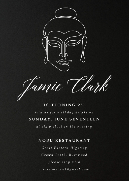 Buddha Secret Party - Birthday Invitations
