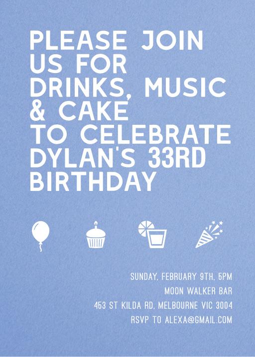 Here Comes the Boom - Birthday Invitations