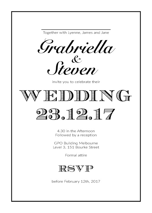 Pop Fizz Clink - Wedding Invitations