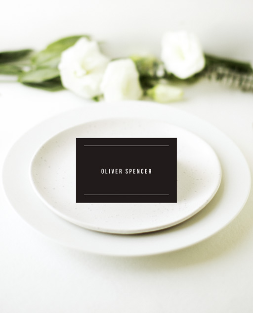 Line - Place Cards
