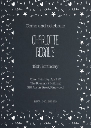 Celebration - Birthday Invitations