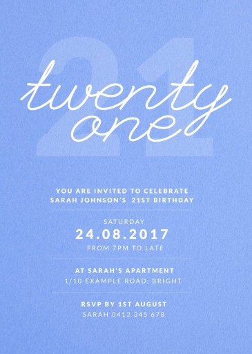 Whats My Age Again - Birthday Invitations
