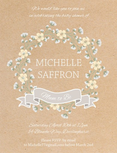 Babys Breath - Baby Shower Invitations
