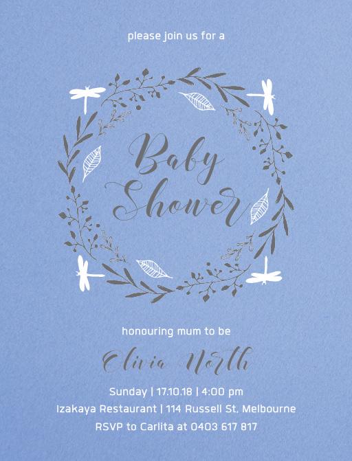 Firefly - baby shower invitations