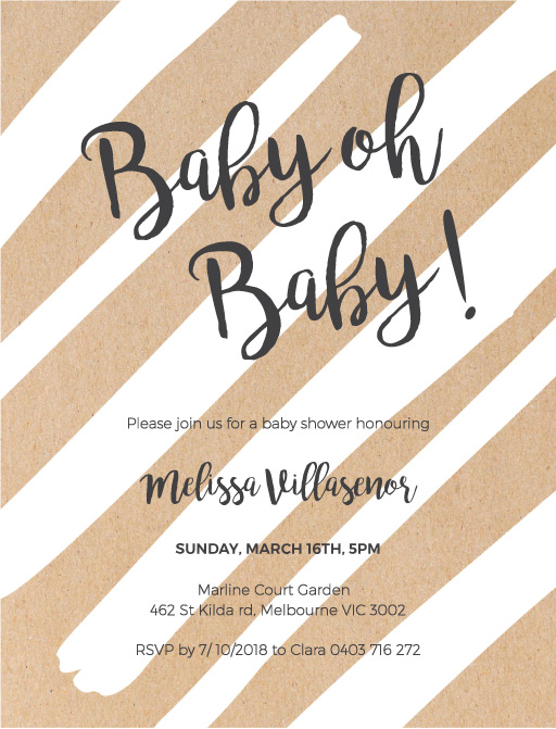 Stripes & Stripes - baby shower invitations