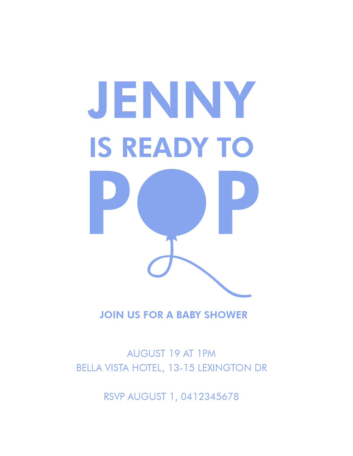 Ready To Pop Baby Shower Invitations Arrow Left Front