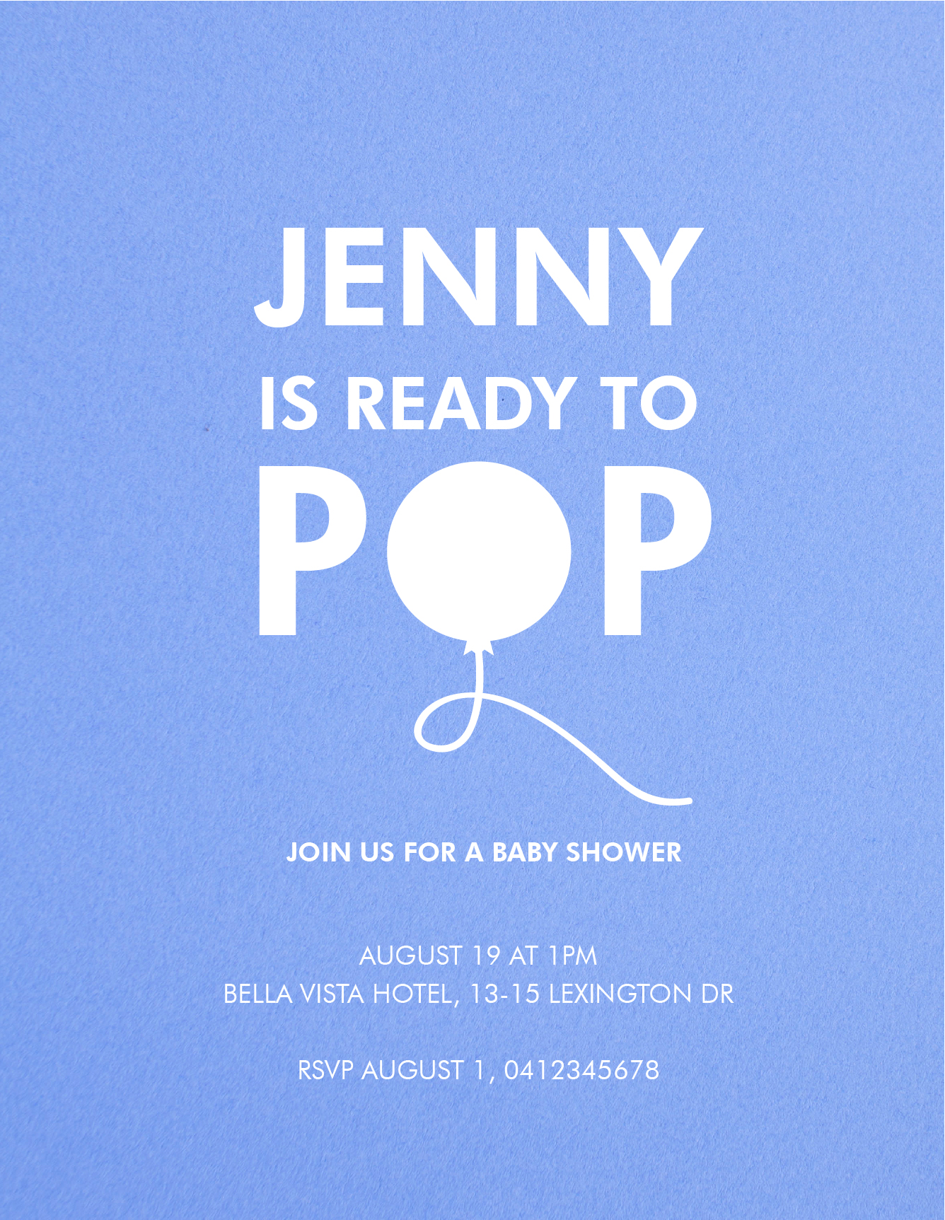 Ready To Pop | White Ink | Baby Shower Invitations