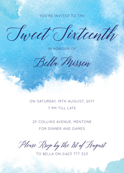 Sweet Sixteen Frozen Invitation - Birthday Invitations