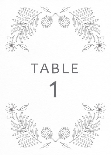 Australian Native Colour In - table numbers