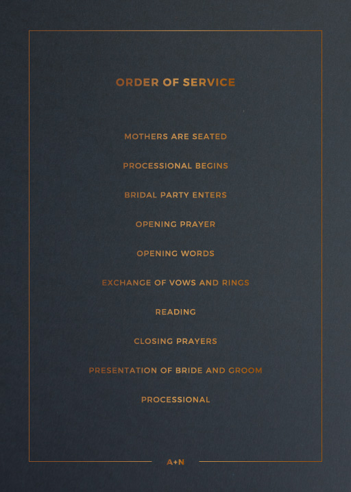 Simplicity - Order Of Service