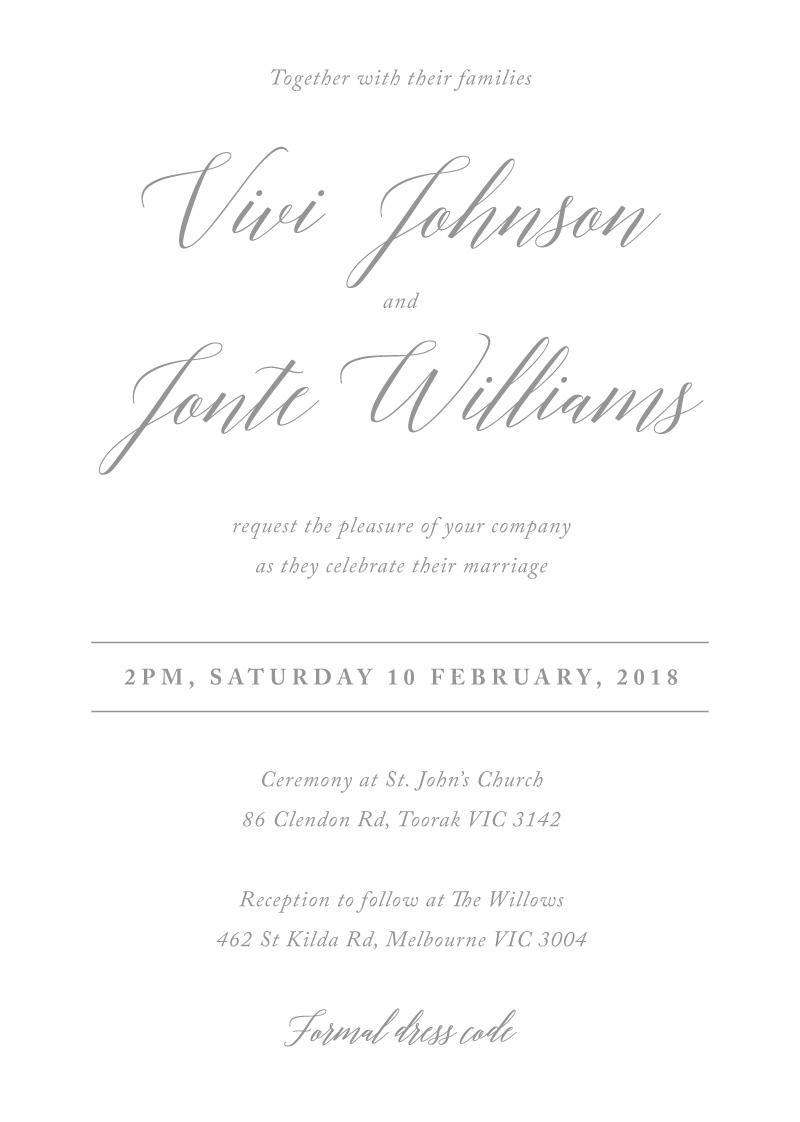 Pastel script digital printing wedding invitations front stopboris Image collections