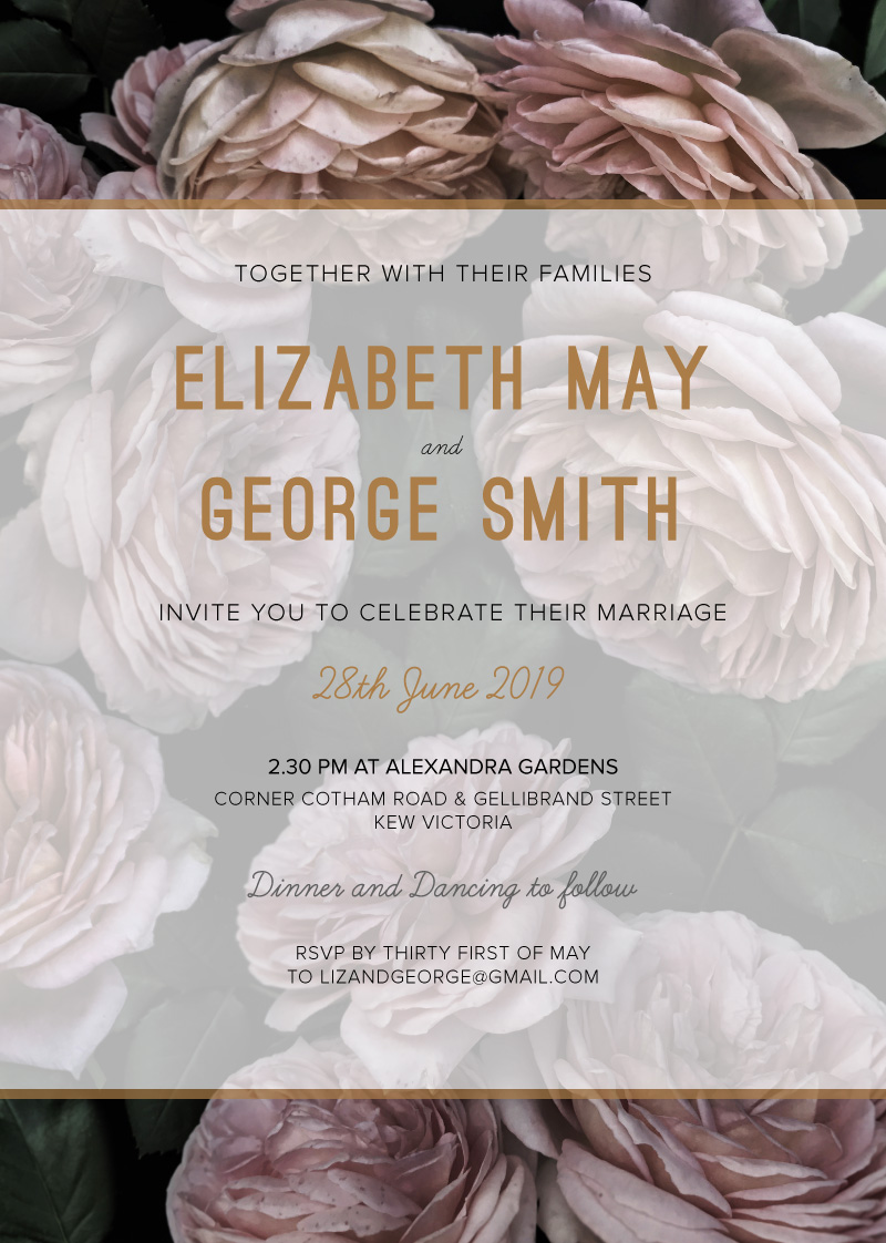 Myrtle Gentry - Wedding Invitations