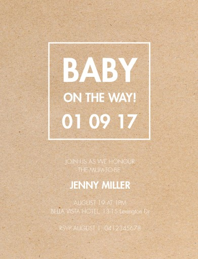 Baby On The Way - Baby Shower Invitations