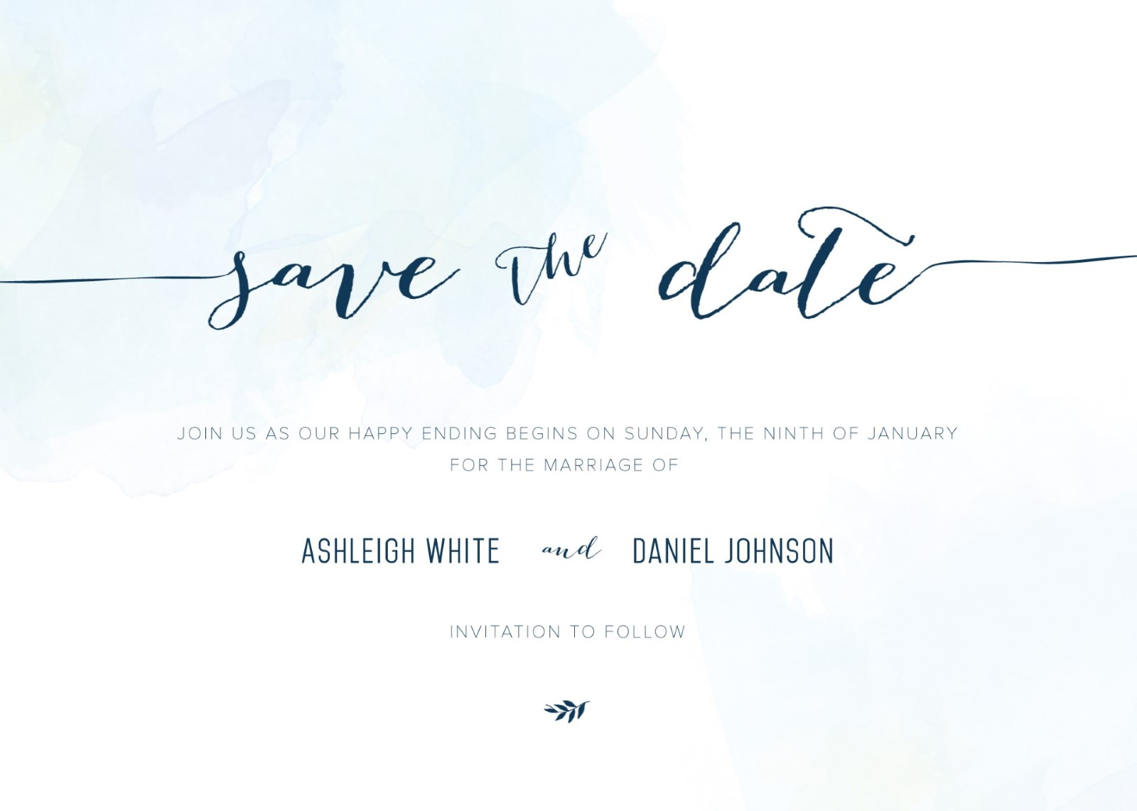 clouds digital printing save the date