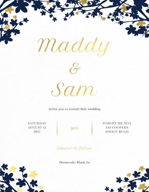 Cherry Blossom - Wedding Invitations