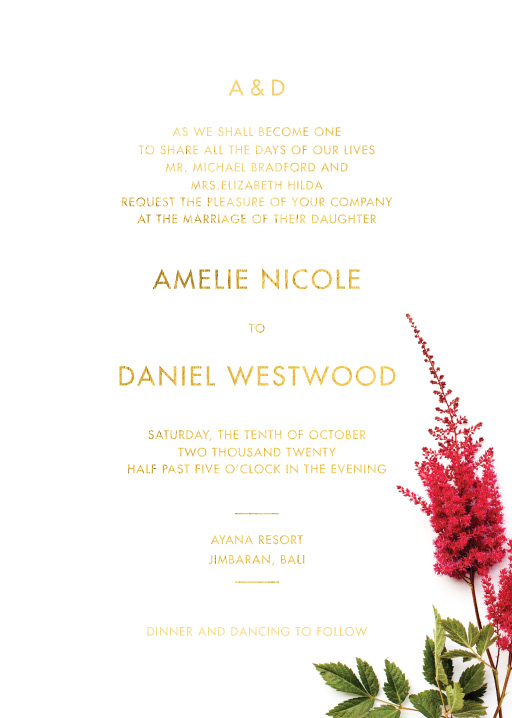 Blooming Red - Wedding Invitations