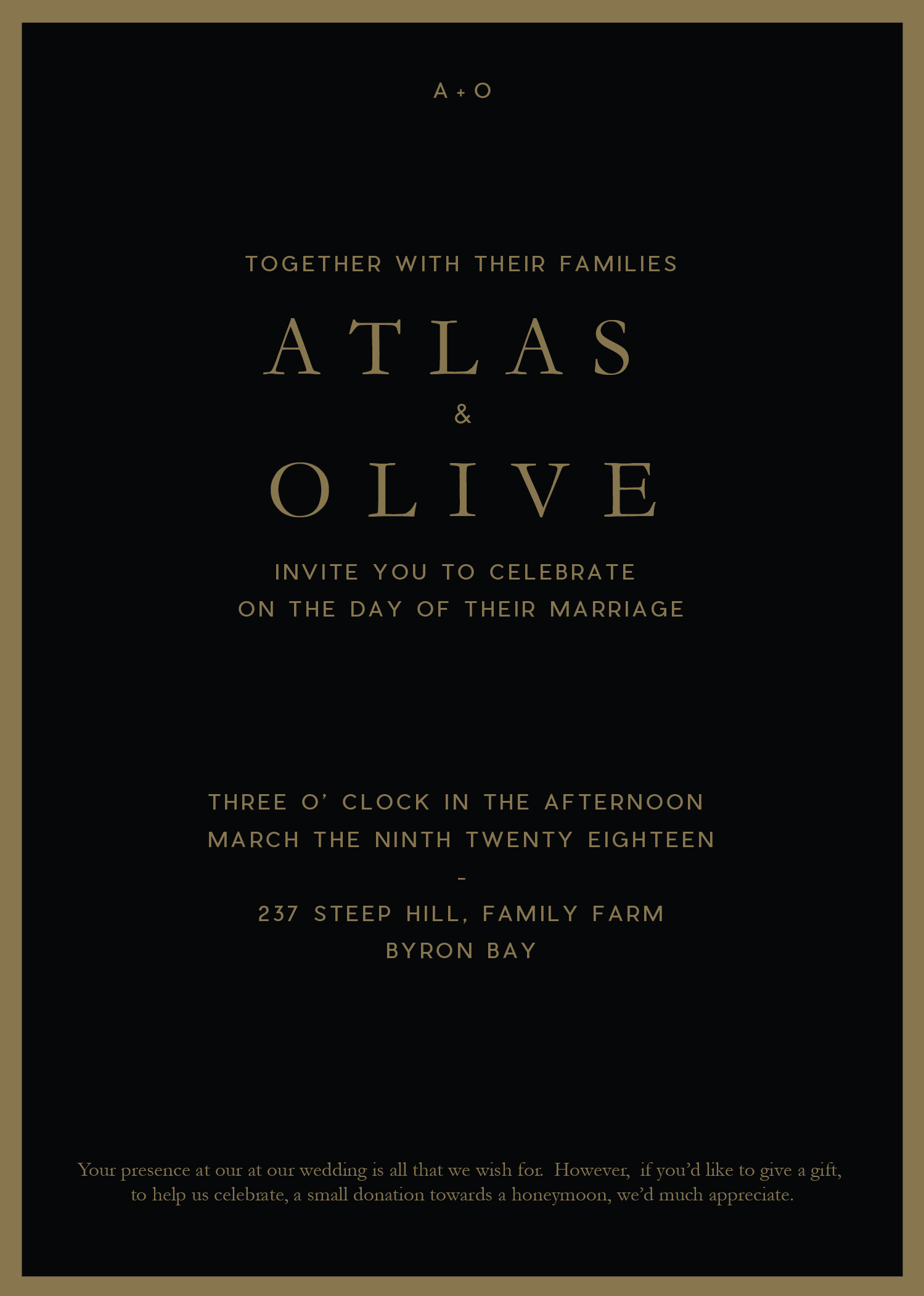 Floral Atlas - Wedding Invitations