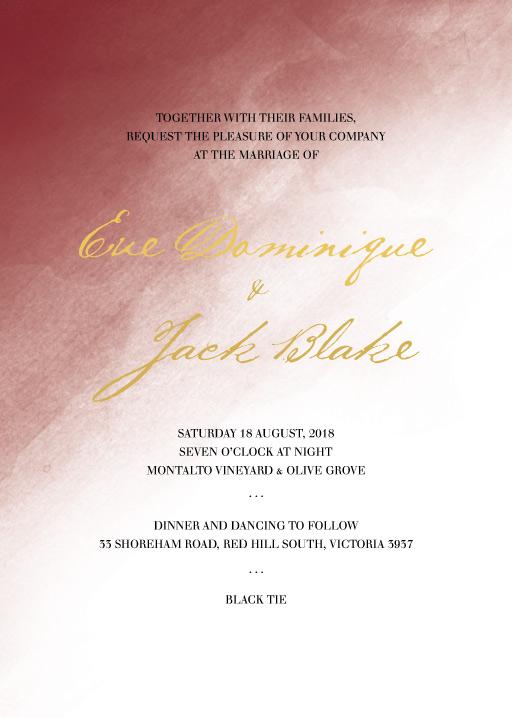 Maroon Love - Wedding Invitations