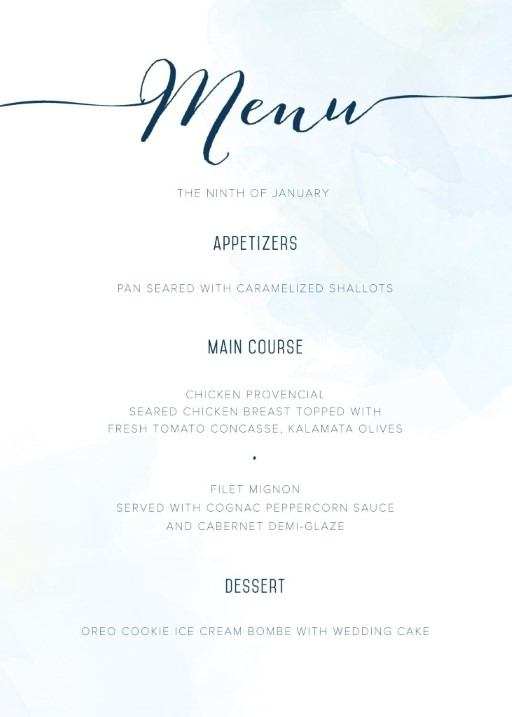 Wedding Menus  Independent Designs  Printed By Paperlust
