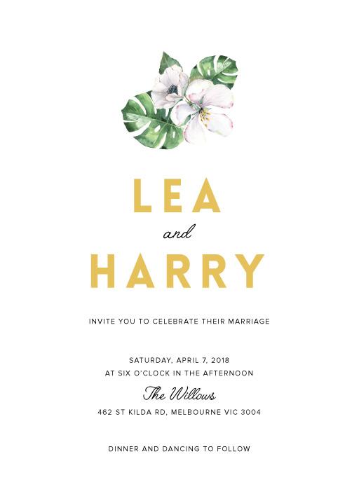White Summer - Wedding Invitations