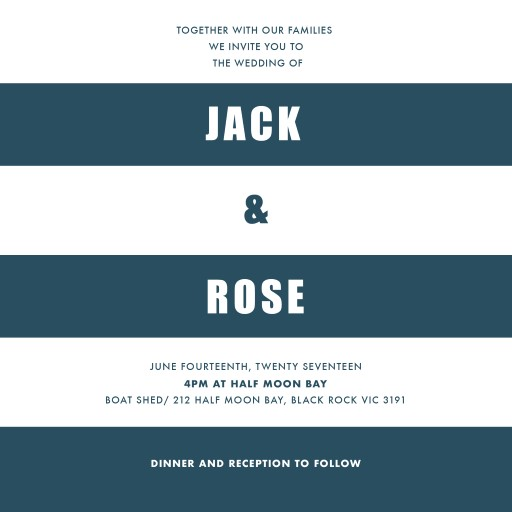 Port Dickson - Wedding Invitations