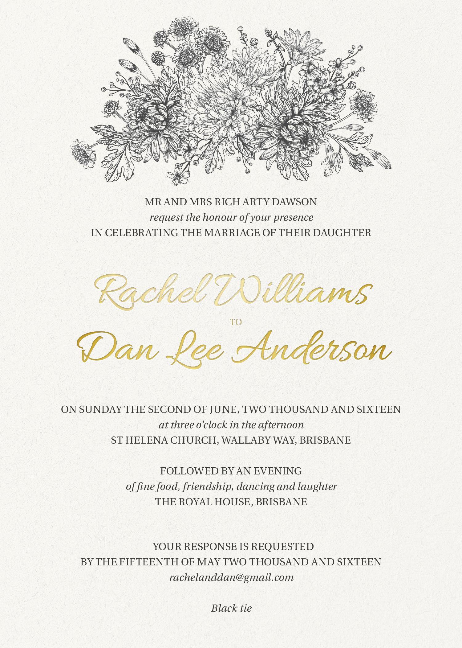Bluemchen | Real Foil | Wedding Invitations