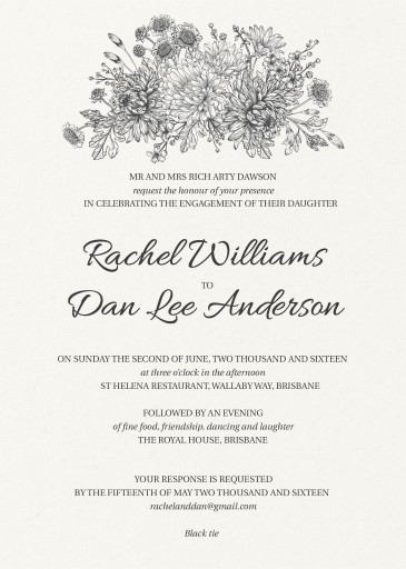 Bluemchen - engagement invitations
