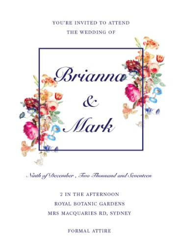 Vintage Floral - Wedding Invitations