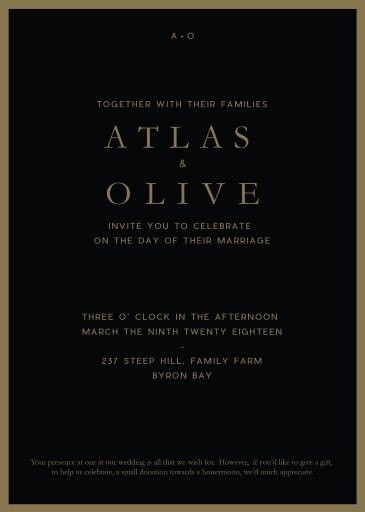 Floral Atlas - Wedding Invitations