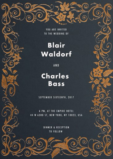 Blue Copper - Wedding Invitations