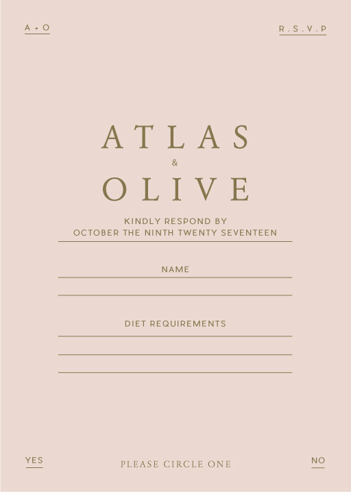 Atlas - RSVP Cards