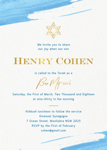 Chapter - Bar Mitzvah Invitations