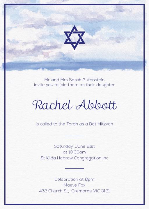 The Day - Bar Bat Mitzvah Invitations