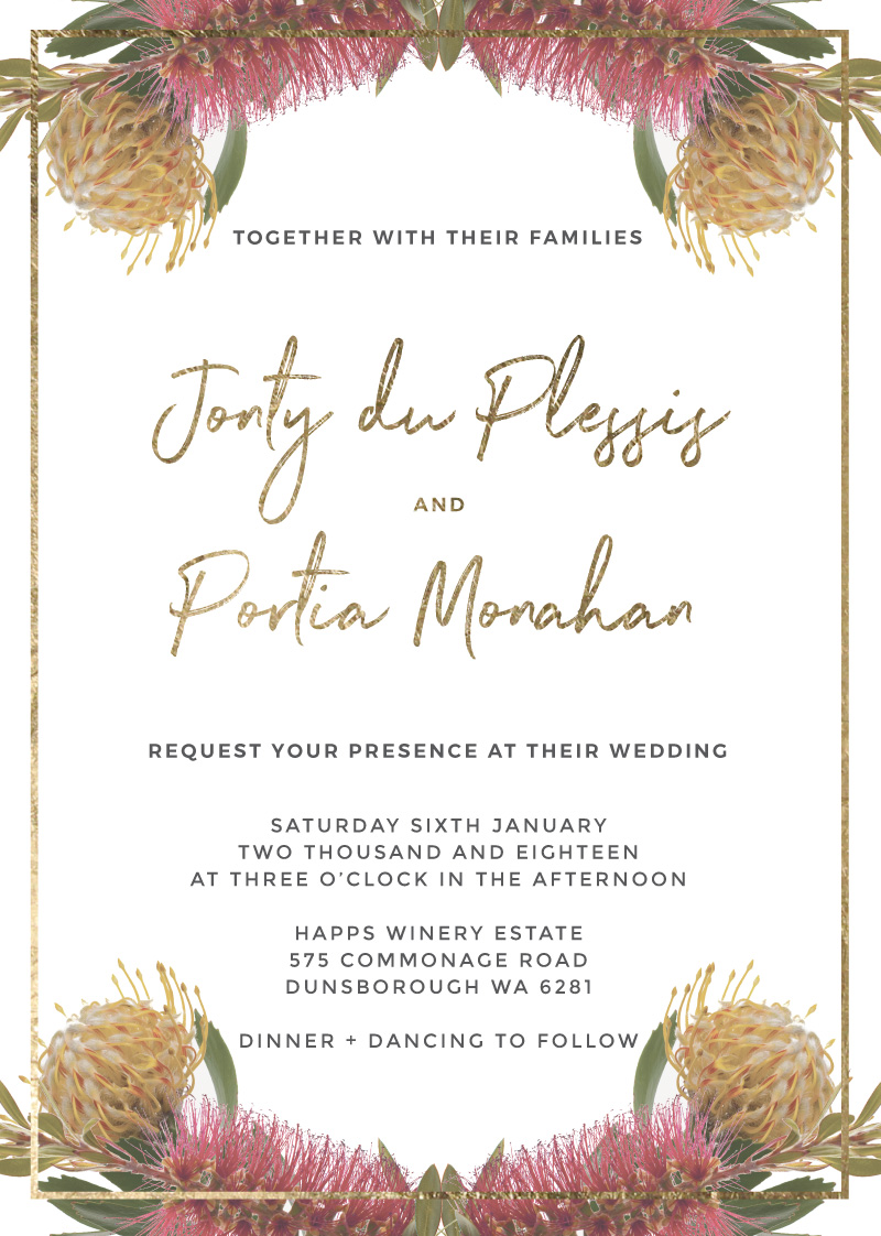 Native reflection real foil wedding invitations front kristyandbryce Choice Image
