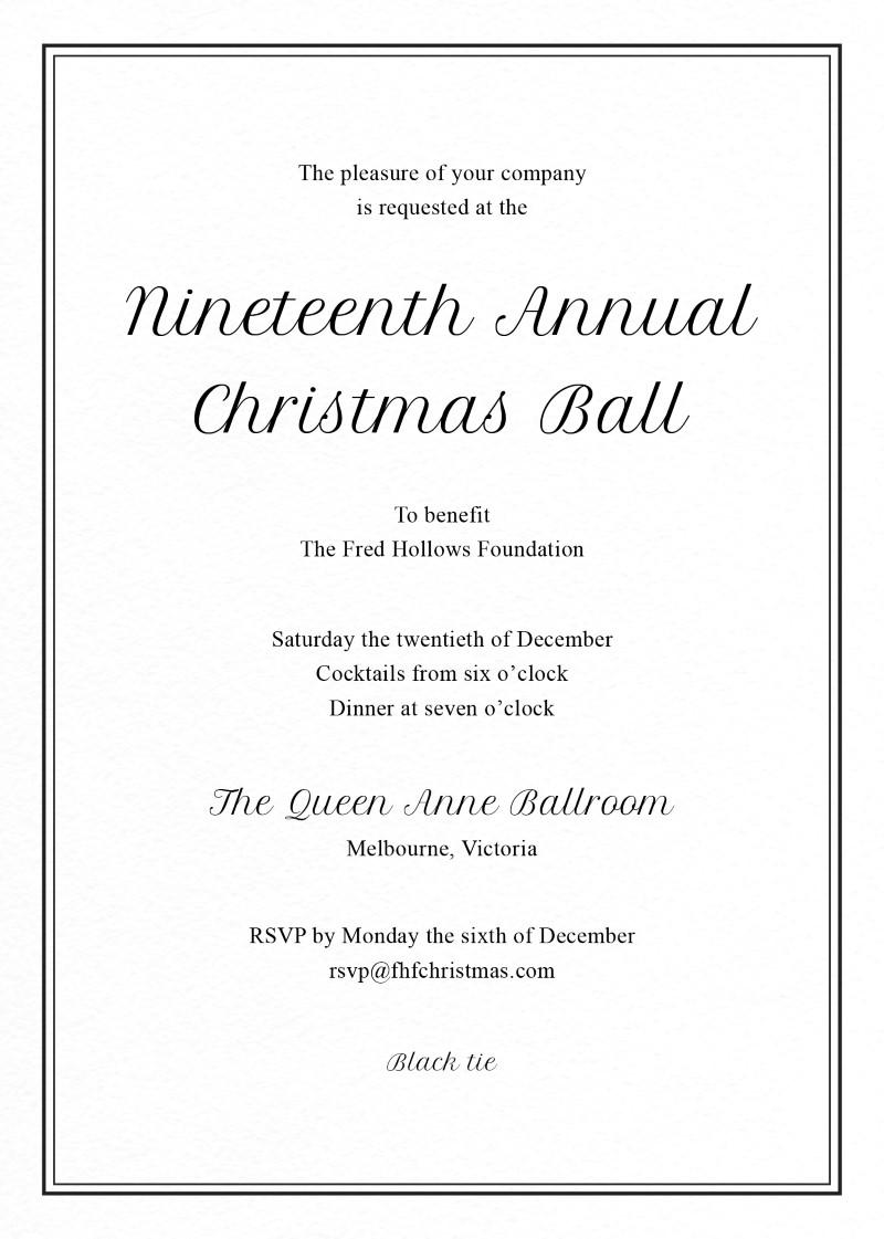 corporate event invitations