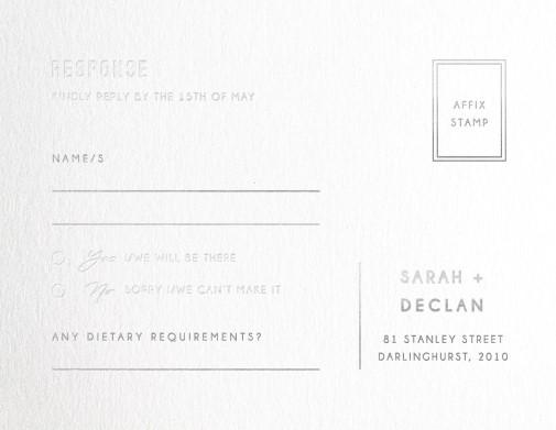 Watsons Bay Hotel - RSVP Cards