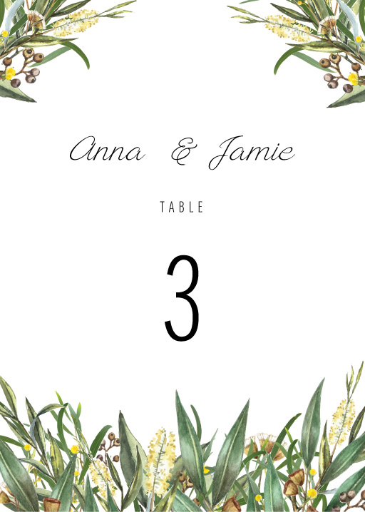 A Bouquet - Table Numbers