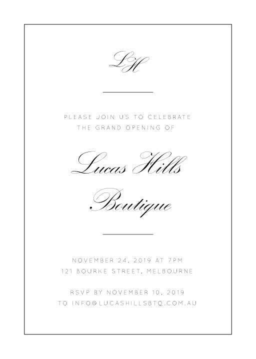 Into the Line - corporate event invitations