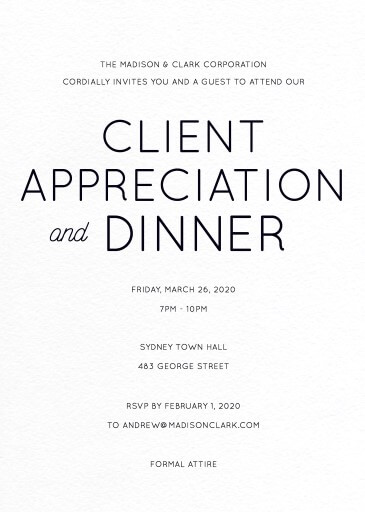 Modern - Corporate Invitations