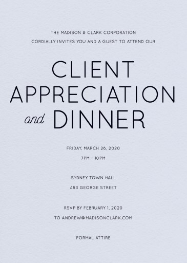 Modern - corporate event invitations